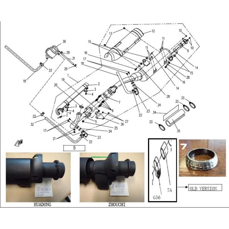 joint d 39 chappement renforc quad goes itech. Black Bedroom Furniture Sets. Home Design Ideas